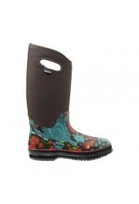 Dámské boty Classic Winter Blooms High - hnědé multi