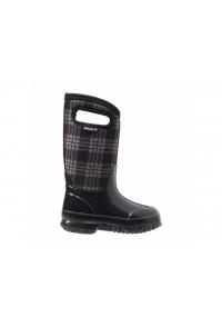 Dětské boty Classic Winter Plaid - černé