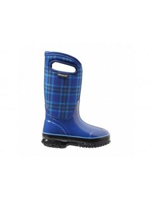 Dětské boty Classic Winter Plaid - modré