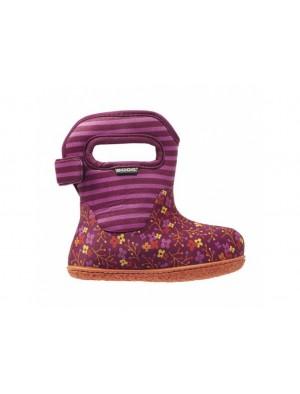 Dětské boty Baby Bogs Classic Flower Stripes - Cranberry