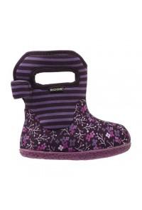 Dětské boty Baby Bogs Classic Flower Stripes - Plum