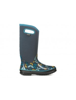 Dámské boty Classic High Butterfly - modré multi