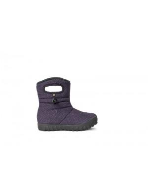 Dětské boty B-MOC FLECK EGGPLANT multi