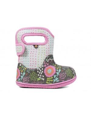 Dětské boty Baby Bogs Classic NEW FLOWER GRAY multi
