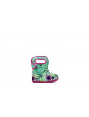 Dětské boty Baby Bogs Classic NEW FLOWER MINT GREEN multi