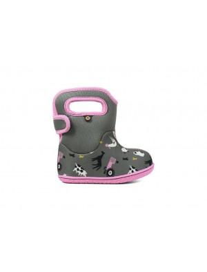 Dětské boty Baby Bogs Classic FARM GRAY multi
