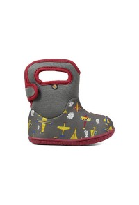Dětské boty Baby Bogs Planes - GRAY multi