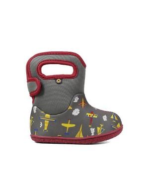 Dětské boty Baby Bogs Planes - GRAY multi