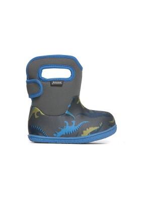 Dětské boty Baby Bogs Classic Dino - Dark Gray Multi