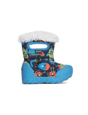 Dětské boty B-Moc Monsters - Dark Blue Multi