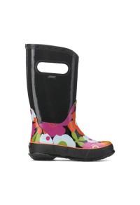 Dětské boty RAIN BOOTS SPRING FLOWERS BLACK MULTI