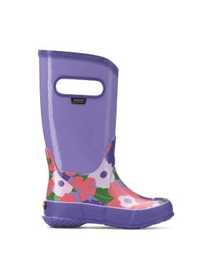 Dětské boty RAIN BOOTS SPRING FLOWERS VIOLET MULTI