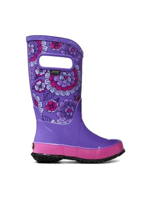 Dětské boty RAIN BOOTS PANSIES VIOLET MULTI