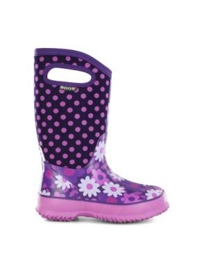 Dětské boty Classic Flower Dots - Plum