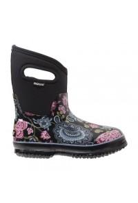 Dámské boty Classic Winter Blooms Mid - černé multi