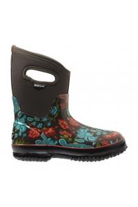 Dámské boty Classic Winter Blooms Mid - hnědé multi